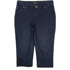 THE LIMITED Dark Blue Denim Cropped Jeans Size 8